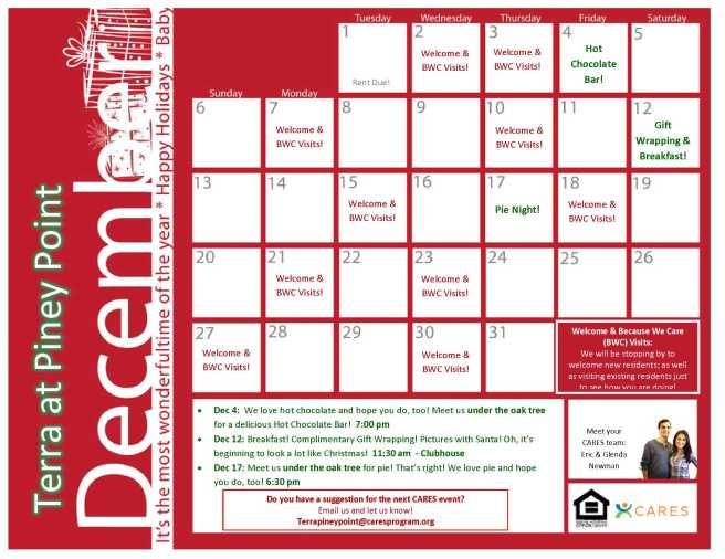 Dec 2015 - Cares Calendar